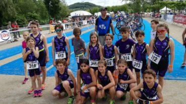 Nos petits Trilions au triathlon de Vesoul
