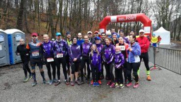 Nos trilions en préparation Triathlon sur la Ronde du Salbert… nous étions plus représentés que les clubs d'athlétisme locaux.